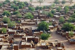 Close look down on a Dogon village Royalty Free Stock Photography