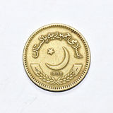 a close look of Pakistan rupee coin Stock Photos