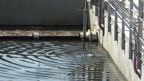 A close look on sewage treatment plant stock footage