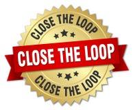 Close the loop badge. Close the loop round badge with ribbon Royalty Free Stock Image
