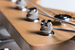 Close macro view guitar machine heads Stock Photo