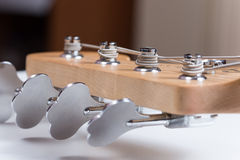 Close macro view guitar machine heads Royalty Free Stock Images