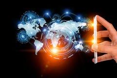 Creating innovative technologies . Mixed media Stock Photography