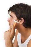 close man shaving up young Στοκ Φωτογραφίες