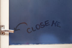 Close me reminder Royalty Free Stock Photography