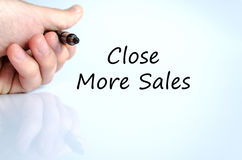 Close more sales text concept Stock Images