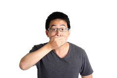 Close mouth Royalty Free Stock Photography