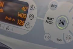 Close Of Washing Machine Stock Photo