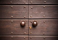 Close old wood door Stock Image