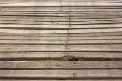 Close the old wooden bridge. Stock Image