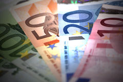 Close op of european banknotes Royalty Free Stock Image
