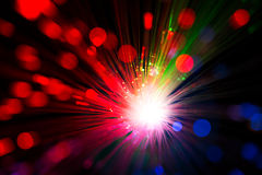 Close op of fiber optics Stock Images