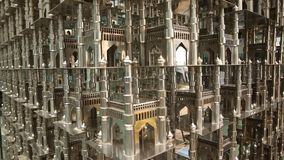 Close op of Heritage Construction Charminar stock video footage