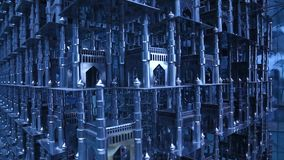 Close op of Heritage Construction Charminar stock footage