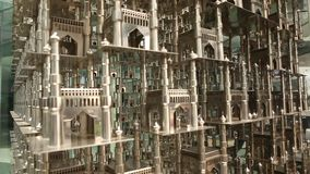 Close op of Heritage Construction Charminar stock video