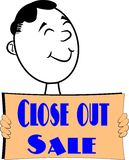 Close out sale Stock Image
