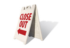 Close Out - Tent Sign Royalty Free Stock Images