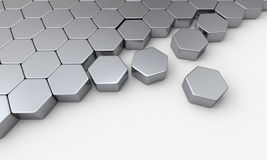 Close packed hexagons Stock Photo