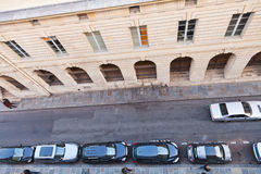 Parking cars in Paris Royalty Free Stock Photography