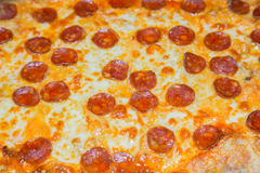 Close pepperoni pizza Royalty Free Stock Images