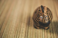 Close Photography of Beige and Black Zebra Toy Stock Photos