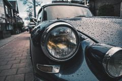 Close Photography of Classic Black Car Royalty Free Stock Images