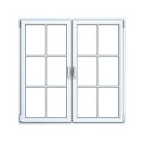 Close plastic window frame Royalty Free Stock Photos