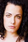Close portrait. Young green eyed woman close portrait Royalty Free Stock Photos