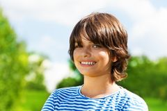Close portrait of 14 boy Royalty Free Stock Photo