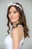 Close portrait of elegant bride Stock Image