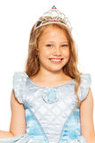 Close portrait of girl in dress wearing crown Royalty Free Stock Images
