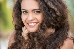 Close portrait of happy smiling bride Royalty Free Stock Photography