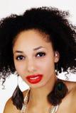 Close Portrait Of Light Skinned Black Woman Stock Image
