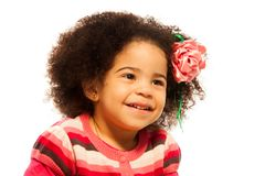 Close portrait of little girl Stock Images