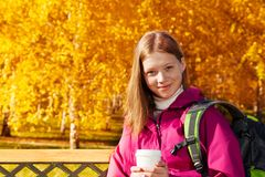 Close portrait of long hair blond girl Royalty Free Stock Photography