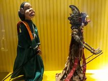 Close portrait on puppet in Jakarta old city puppet museum. BEKASI, WEST JAVA, INDONESIA. SEPTEMBER 18, 2018 : Close portrait on puppet in Jakarta old city royalty free stock photos