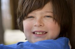 Close portrait of a young boy Stock Images