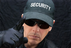 Close Protection Warns Royalty Free Stock Photos