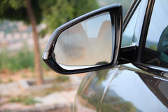 Close Rearview Mirror Stock Images