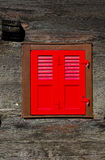 Close red shutters Stock Image