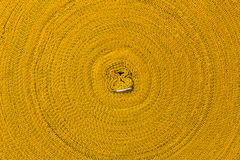 Close-roll yellow rope. Royalty Free Stock Photography