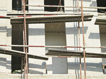 Close of scaffolding Stock Images