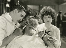 Close shave stock image