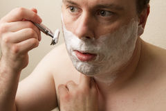 Close shave Royalty Free Stock Photography