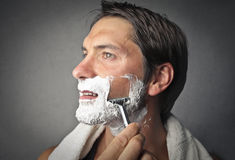 Close shave Stock Photography