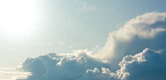 Close shiny clouds Royalty Free Stock Photography