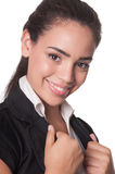Close shot of attractive young business lady Royalty Free Stock Images