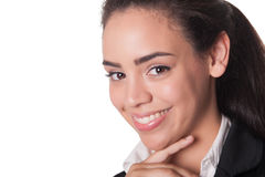 Close shot of attractive young business lady Stock Image