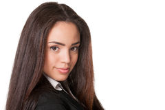 Close shot of attractive young business lady Stock Images