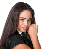 Close shot of attractive young business lady Royalty Free Stock Image